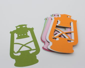 Lantern, cut paper cardstock supply made handmade multicolored embellishment, scrapbooking, cardmaking, vintage