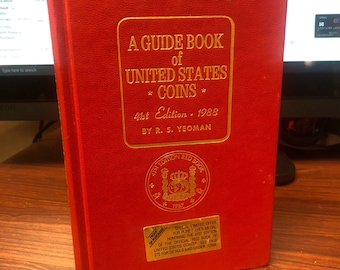Vintage 1988 Red Book A Guide Book Of United States Coins 41st Edition by R.S. Yeoman