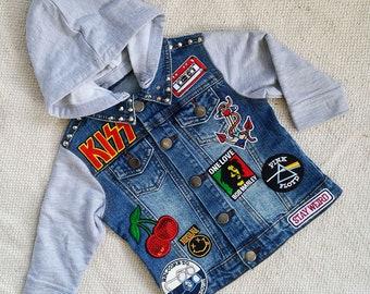 Lil'Rockers kids denim Battle jacket size 1-2