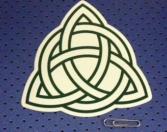 Green Celtic Knot Bumper Sticker