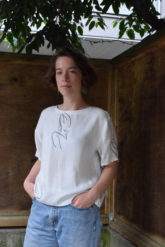 Tilda White Vegan Silk Tee  |  Print Optional
