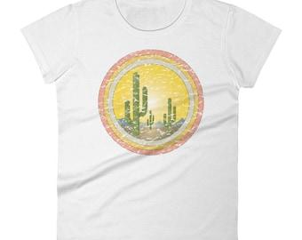 Women's Cactus Desert Sunset t-shirt