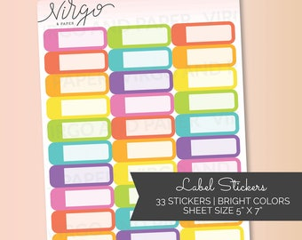Appointment Labels Multicolor - Event Label Planner Stickers - Choose Colors  - Choose Glossy, Matte LA