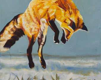 Fox Pounce 2 - Prints - Museum Quality Fine Art Giclée Prints
