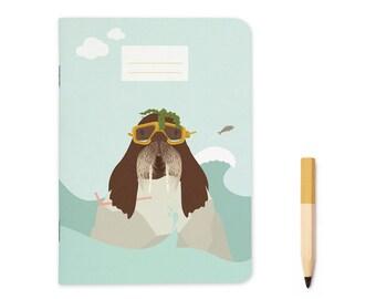 "Pocket size Notebook - Walrus   A6 - 4.13 x 5.83"""
