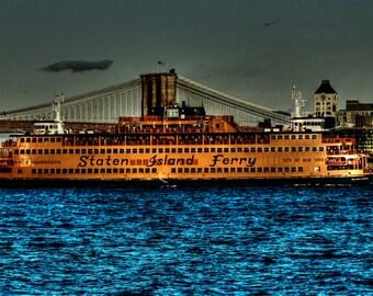New York, Staten Island Ferry, 11x14, Fine Art Print