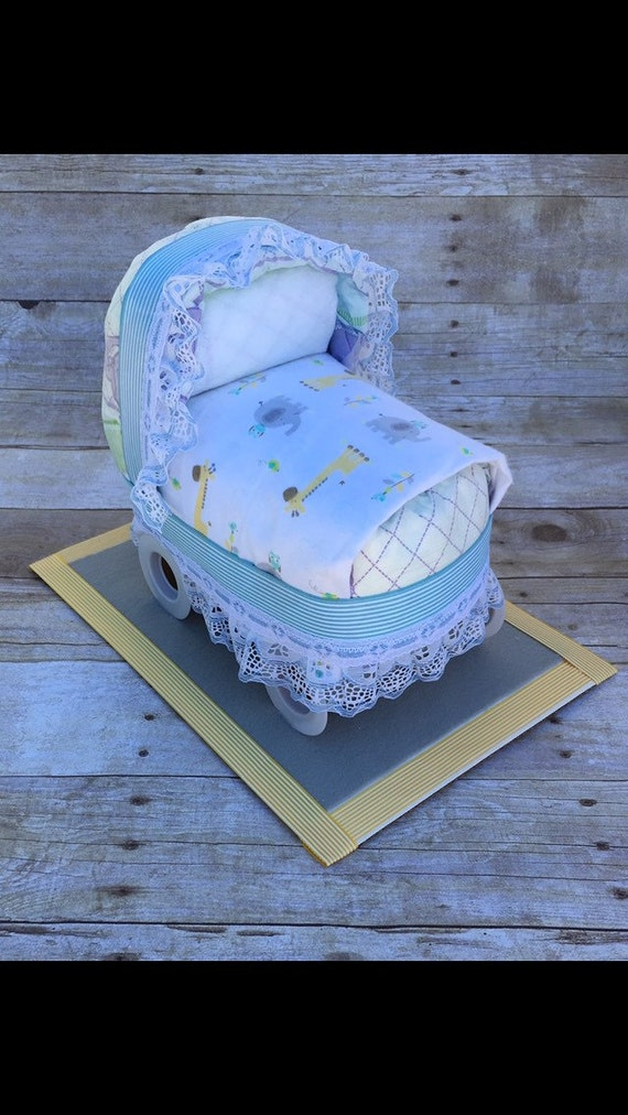 Baby Shower Centerpiece Diaper Bassinet Baby Shower Decor