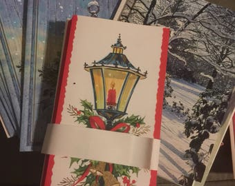 Lot of vintage Christmas cards from the 50's