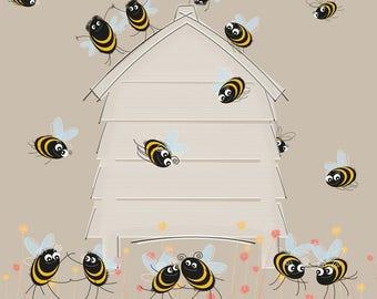 Bee Hive Jive Card