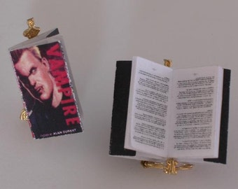 Vampire  Miniature Dollhouse Book