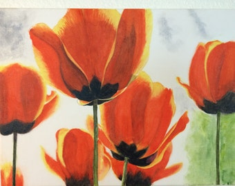 """Art greeting cards """"Tulips"""""""