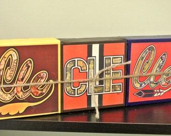 CLEVELAND SPORTS MINIS - Cleveland Cavs, Indians, & Browns Mini Canvas Set