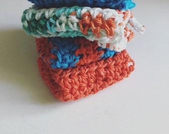 Set of 4 Trivet,  Pot Holders, modern crochet washcloth, housewarming gift,  kitchen and dining