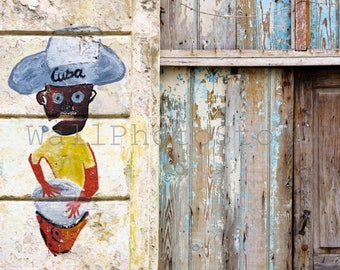 Door Photography, Old Wooden Door, Graffiti, Cuba Photography, Door Lock, Кeyhole, Door-Bolt Photo, Fine Art Photography, Door Art Print
