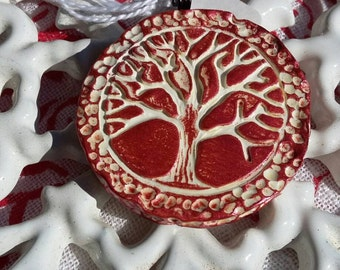 Polymer Clay Tree of Life Pendant - Limited Edition