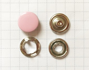 Snaply 10 jersey Press studs closed Pink