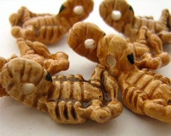 4 Large Scorpion Beads