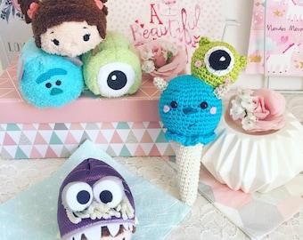 Amigurumi Monsters Inc : Monty and myrtle the monsters u amigurumi crochet pattern