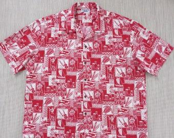 Hawaiian Shirt PACIFIC LEGEND Ukulele Shirt Surfer Aloha Shirt Mosaic Pattern Hula Dancers Men 100% Cotton Camp -3XL- Oahu Lew's Shirt Shack