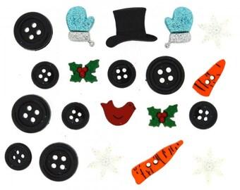 Dress It Up Buttons - Build A Snowman