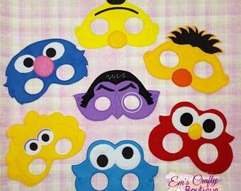 Sesame Street Masks, face mask, pretend play, party favor, kids play, Sleeping Beauty masks