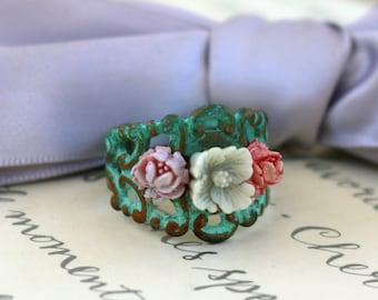 Veridris Flower ring choice of three styles
