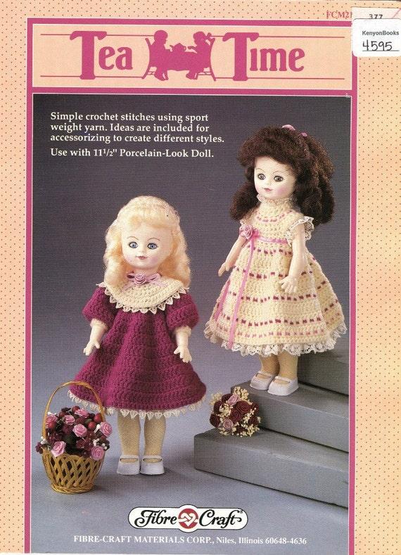 Patrón de vestidos de muñeca ganchillo 11.5\