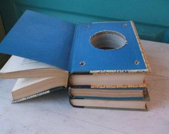 Handmade Book Stack with Hideaway Spot Stash Spot Hidden Compartment Secret Safe Secret Cache Money Hider Dorm Room Great Gift