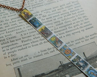 Tarot necklace tarot jewelry Tarot correspondence to Chakras mixed media jewelry supernatural