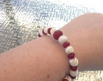 Ruby Red Candy Cane Bracelet