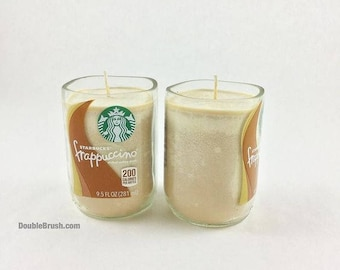 Starbucks Candle Set of 2 OOAK One of a Kind 2 Handmade Coffee Scented Soy Candles Coffee Birthday Gift Starbucks Coffee Gift 30% OFF SALE