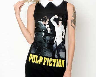 Pulp Fiction Altered Tee Collar Dress