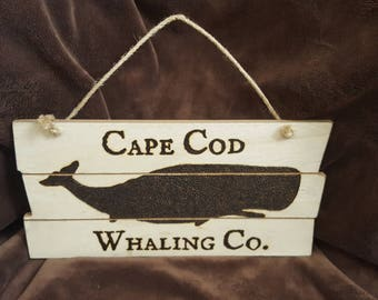 Cape Cod Whale Woodburning