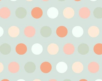 SALE!  Fabric by the Yard - Bunny Fabric - Blue Dots - Bunny Tales Collection - Modern fabric - Fat Quarter Bundle - Fabric Panel