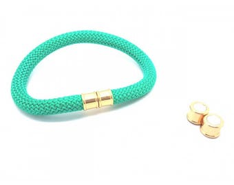 2 sets gold cord 10mm magnetic clasps