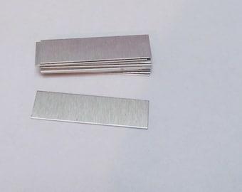 3/8 x 1 1/2  Aluminum Blanks - - 18 gauge -jewelry blanks  -Metal Blanks - Rectangle blanks - Pendant blanks -Stamping Supplies 5 or more