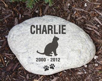 Personalized Cat Memorial Garden Stone, pet, memorial, kitten, pet memorial, outdoor, memorial gift, home decor, garden decor -gfyL688714