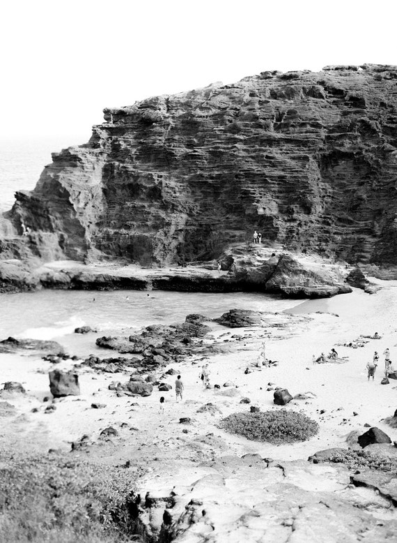 Aerial of beach featured in From Here to Eternity