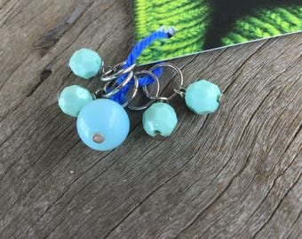 Mint and Baby Blue Stitch Markers