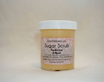 Frankincense & Myrrh Body Scrub Sugar Scrub Body Polish by DayDreamLux!
