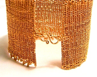 5 Ounces of Insanity - Unisex Cuff style Copper Bracelet-Fits 8 and a half to 8 and 3quarters inch wrist