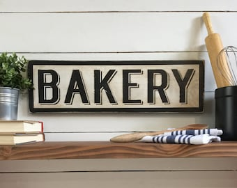 Bakery Sign - Wood Sign - Farmhouse Decor - Pastry Chef - Kitchen Decor - Vintage - Baker's Gift - Antique Sign - Mother's Day Gift - Pantry