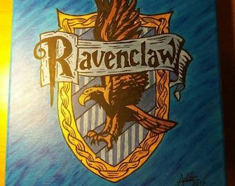 Ravenclaw Harry Potter Painted House Crest Symbol Logo