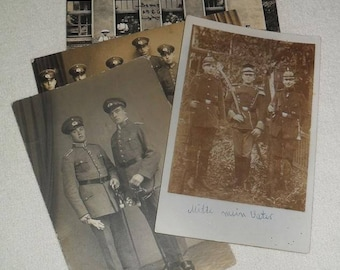 4 Photos-Pimple hood-shako-military-at 1926/27-Germany-Original photographs pictures