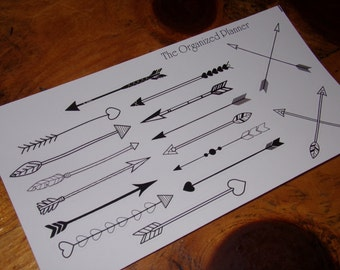 Arrow Stickers / Bullet Journal Stickers  / Tribal Stickers