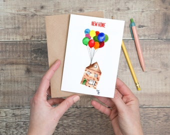 New Home (with balloons) Card