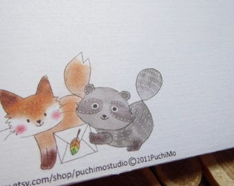 Regular envelope / Floral Fox