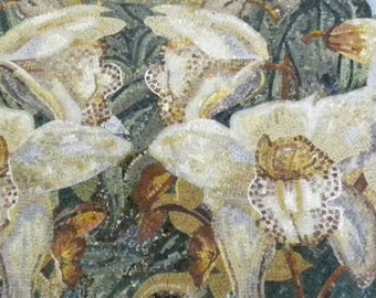 White Lillys Floral Mosaic