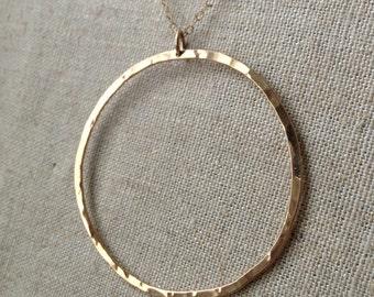 14 Karat Gold Fill Hoop Necklace