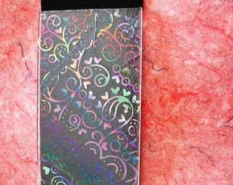 Hand Etched Dichroic Glass